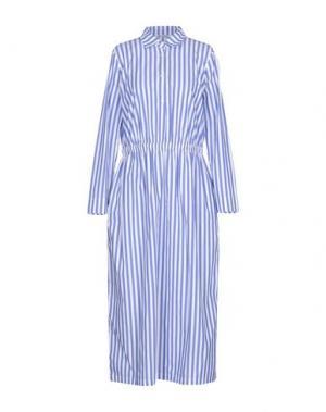 Длинное платье BARENA. Цвет: лазурный