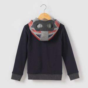 Свитшот на молнии с капюшоном, 3-14 лет IKKS JUNIOR. Цвет: темно-синий