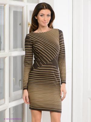 Платье La vida rica. Цвет: коричневый