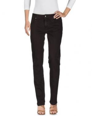 Джинсовые брюки HEAVY PROJECT. Цвет: темно-коричневый