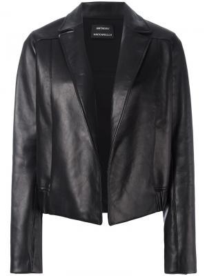 Открытая куртка Anthony Vaccarello. Цвет: чёрный