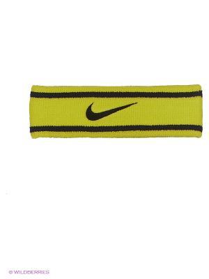 Повязка на голову Nike. Цвет: черный, желтый