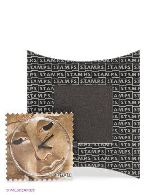 Часы S.T.A.M.P.S.. Цвет: бежевый, коричневый
