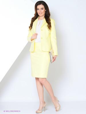 Пиджак Devur. Цвет: желтый