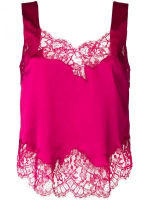 Кружевной топ Givenchy. Цвет: розовый и фиолетовый
