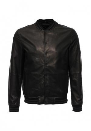 Куртка кожаная Kenneth Cole. Цвет: коричневый