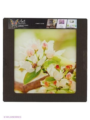 Цветок вишни DECORETTO. Цвет: салатовый, белый, коричневый