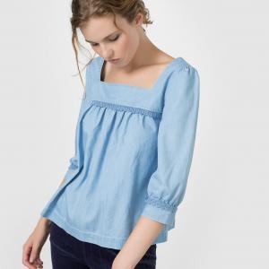 Блузка из легкого денима MADEMOISELLE R. Цвет: синий