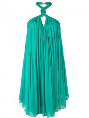 Платье с петлей-хальтер Jay Ahr. Цвет: зелёный