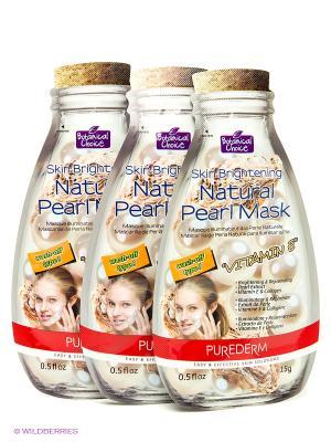 Набор из 3 шт. Интенсивно восстанавливающая маска с Витамином Е Натуральный Жемчуг Purederm. Цвет: серебристый