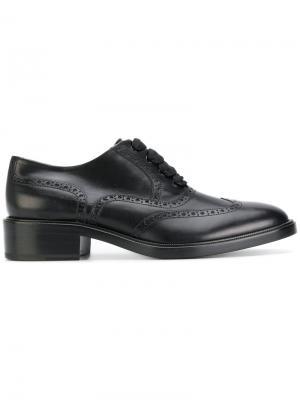 Классические броги на шнуровке Sartore. Цвет: чёрный