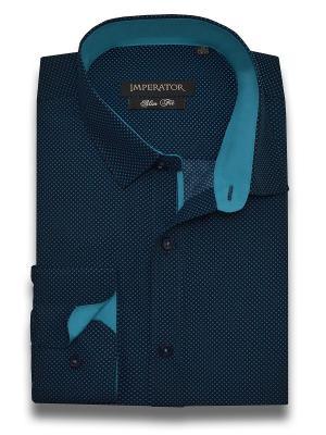 Рубашка Imperator. Цвет: синий, лазурный