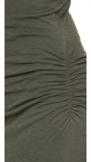 Rosina Shirred Maxi Dress Three Dots