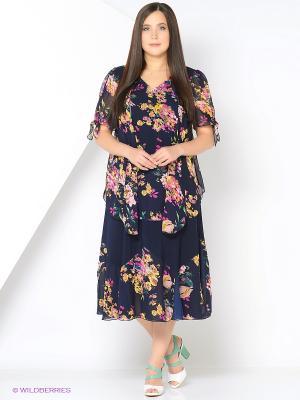 Комплект одежды Полина. Цвет: темно-синий, фуксия