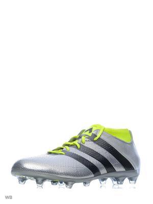 Футбольные бутсы (мяг.покр.) муж. ACE 16.2 PRIMEMESH Adidas. Цвет: серебристый
