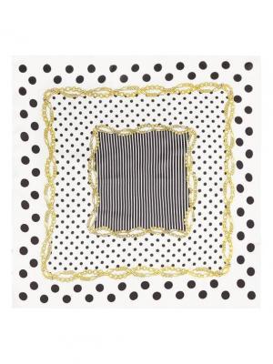 Платок Eleganzza. Цвет: черный, белый, золотистый