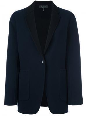 Пиджак с застежкой на пуговицу Rag & Bone. Цвет: синий