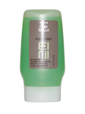 Wella EIMI Sculpt Force - Гель-флаббер экстрасильной фиксации 125 мл Professional. Цвет: серо-зеленый