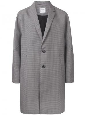 Пальто в ломаную клетку Wooyoungmi. Цвет: чёрный