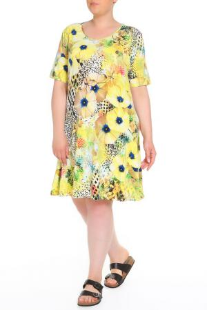 Платье домашнее LAVELLE. Цвет: желтый