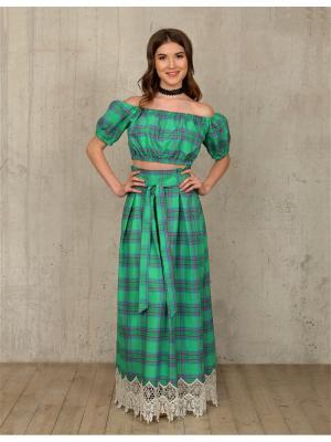 Блузка Tantino. Цвет: зеленый