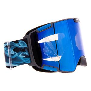 Маска для сноуборда  Crew Nw Icon Midnight Smoke Ice Blue I/S Eyewear. Цвет: синий,черный