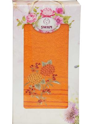 Полотенце в коробке ЛЮКС, дизайн Одуванчики 1 шт. (70*140) 100% хлопок Dorothy's Нome. Цвет: оранжевый