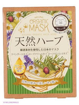 Japan Gals Маски для лица органические с экстрактом природных трав 7 шт. Цвет: прозрачный