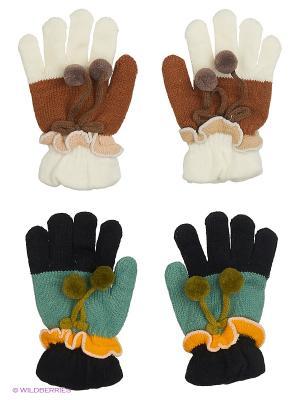 Перчатки FOMAS. Цвет: зеленый, коричневый, белый, черный