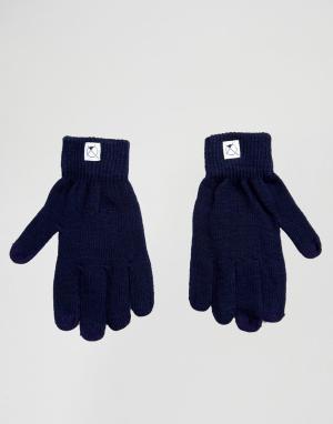7X Перчатки с отделкой для пользования сенсорным экраном. Цвет: синий