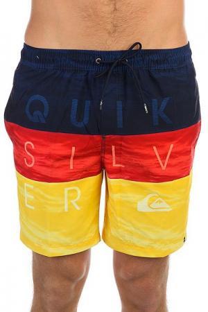 Шорты пляжные  Wordwavevol17 Nasturticm Quiksilver. Цвет: желтый,синий,красный