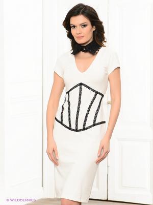 Платье Lussotico. Цвет: белый, черный
