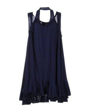 Короткое платье ZUCCA. Цвет: темно-синий