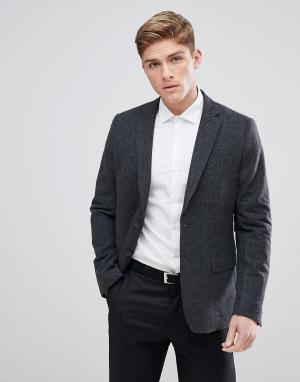 New Look Темно-серый блейзер. Цвет: серый