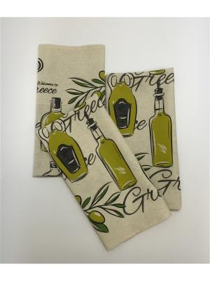 Набор-полотенец, 3 шт A and C Collection. Цвет: бежевый, салатовый
