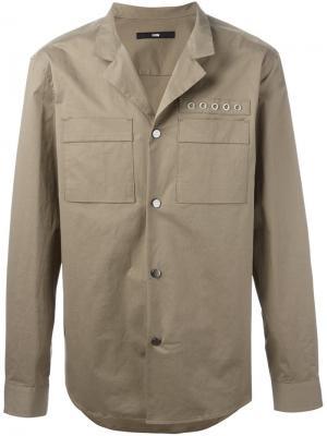 Куртка-рубашка с люверсами System Homme. Цвет: телесный