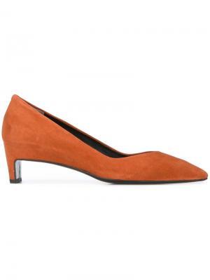 Туфли на каблуках-столбиках Robert Clergerie. Цвет: жёлтый и оранжевый