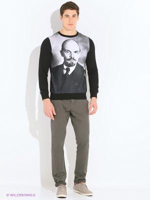 Лонгслив Ленин BAGGAGE. Цвет: черный
