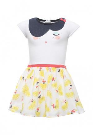 Платье Catimini. Цвет: белый