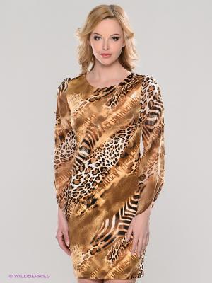 Платье TOPSANDTOPS. Цвет: коричневый, черный
