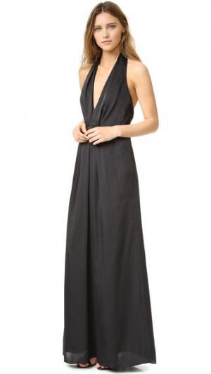 Вечернее платье с глубокой V-образной проймой Jill Stuart. Цвет: голубой