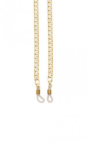 Стеклянная цепочка camilla Amber Sceats. Цвет: металлический золотой