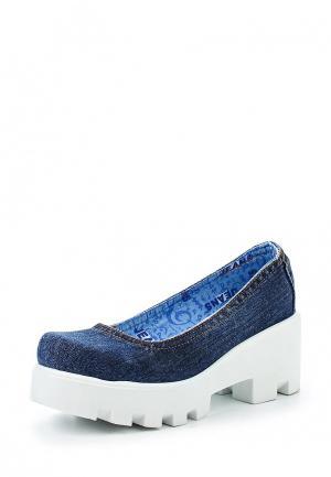 Туфли Bigtora. Цвет: синий