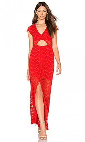 Макси-платье с вырезами mariposa Nightcap. Цвет: красный