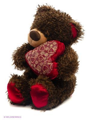 Медвежонок Чиба с сердцем Fancy. Цвет: коричневый