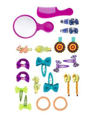 Набор аксессуаров детский Pretty Mania. Цвет: синий, голубой, желтый, красный, розовый, фиолетовый