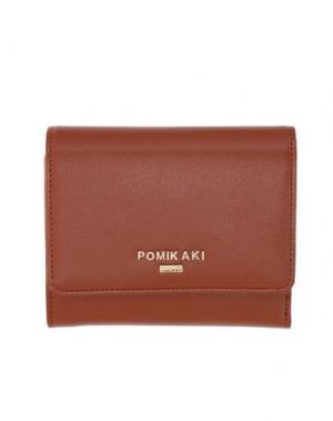 Бумажник POMIKAKI. Цвет: коричневый