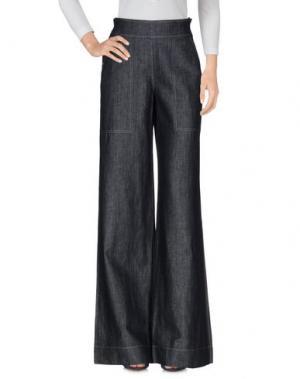 Джинсовые брюки JEAN PAUL GAULTIER FEMME. Цвет: синий