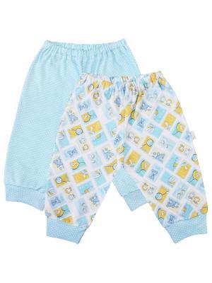 Ползунки - 2 шт. Веселый малыш. Цвет: бирюзовый, голубой, желтый