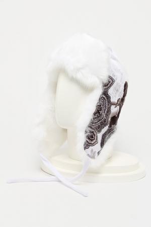 Шапка-ушанка ROMAX. Цвет: белый